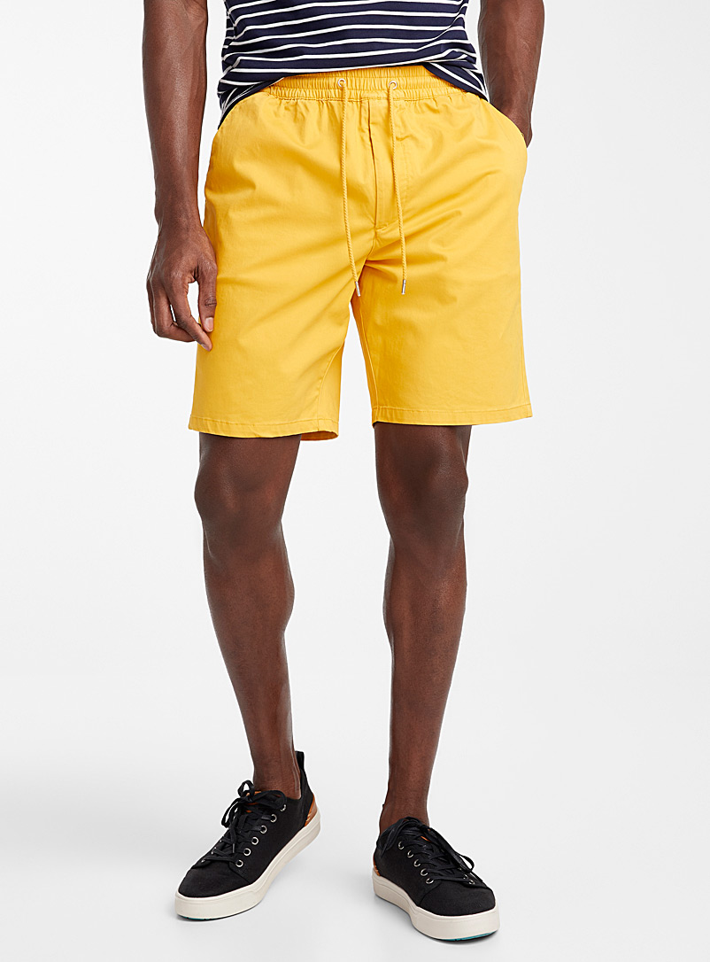 Le 31 Medium Yellow Organic cotton comfort-waist short for men