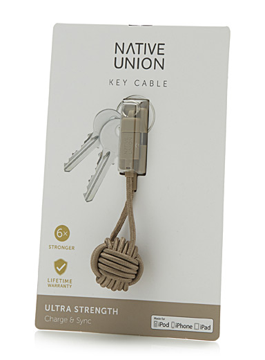 Taupe key cable