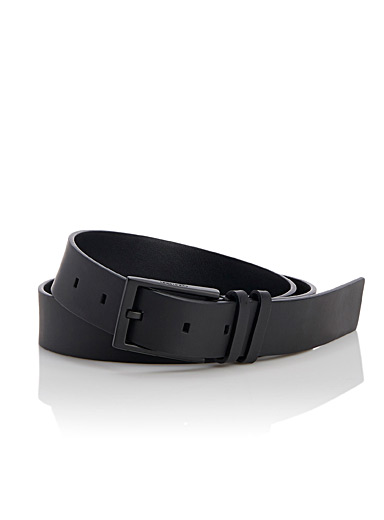 Ultra light matte leather belt