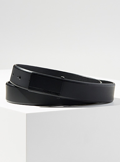 Calvin Klein Black All-over black belt for men