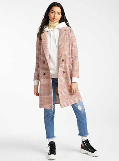 Twik Assorted red  Pink checked wool for women