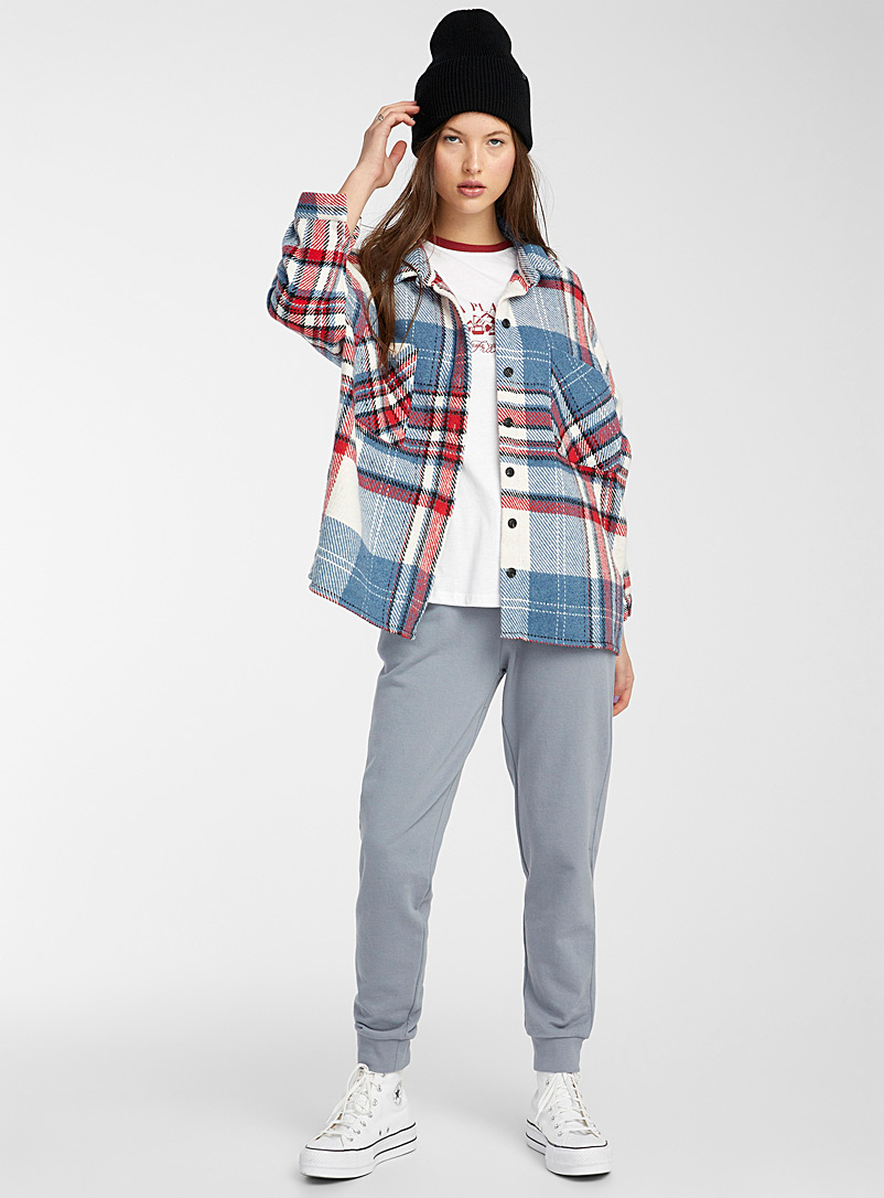 Twik Pink Coloured-check overshirt for women