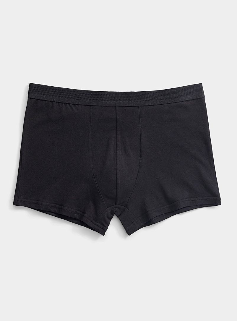 Le 31 Black Organic cotton solid trunk for men