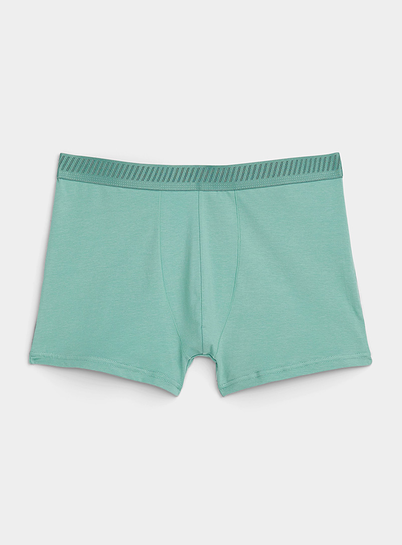 Le 31 Light Red Organic cotton solid trunk for men