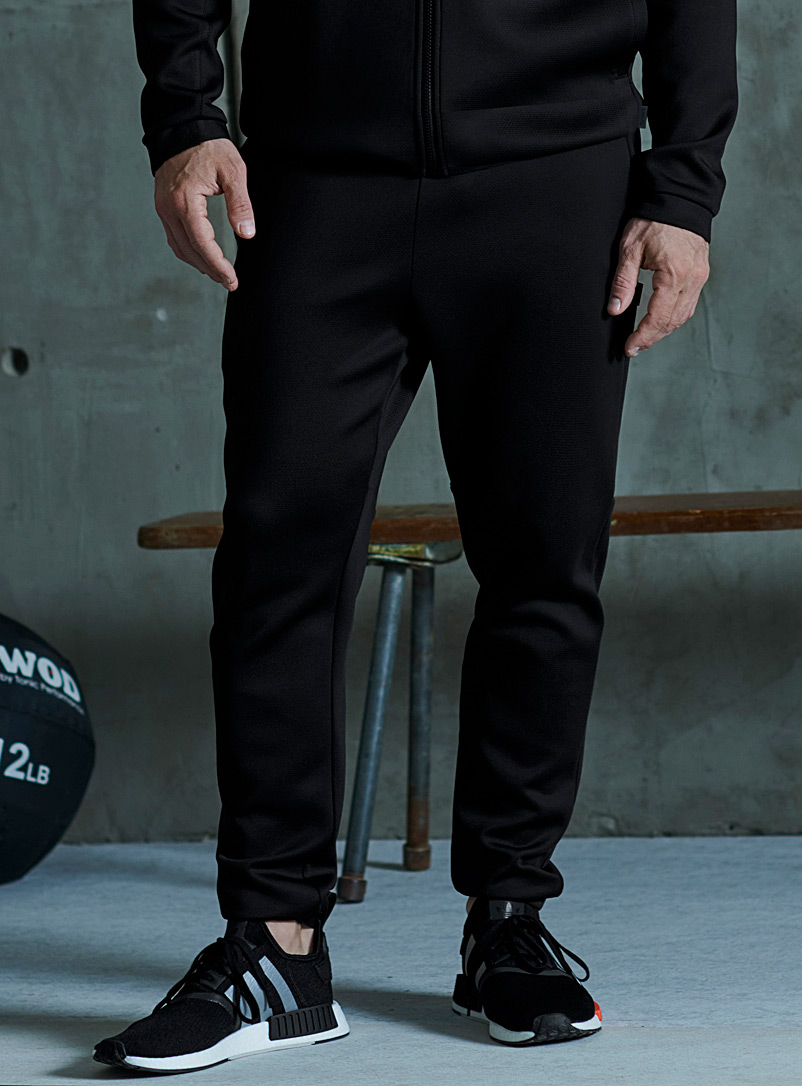 I.FIV5 Black Eco-friendly technical jersey joggers for men
