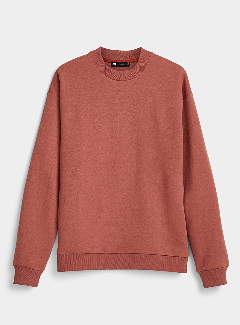 Modern mock-neck sweatshirt