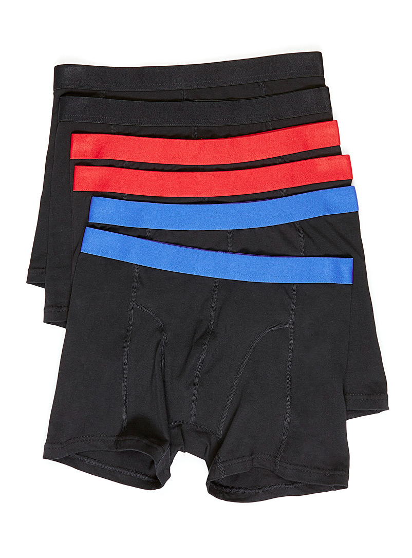 Le 31 Black Accent waist boxer brief  6-pack for men