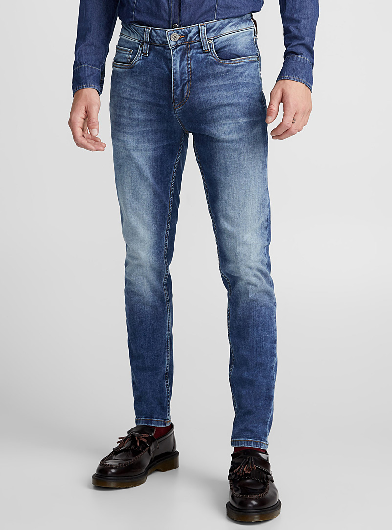Faded stretch jean  Super skinny fit - Super skinny & Skinny fit - Blue