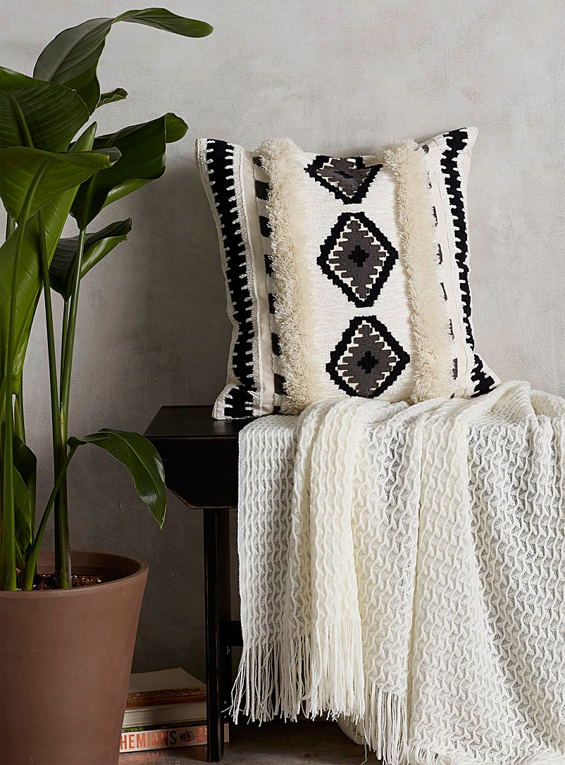 Simons Maison Black and White Faraway land cushion  45 x 45 cm