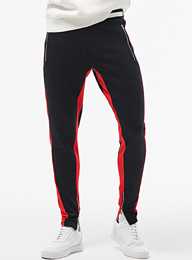 Red-accent track pant