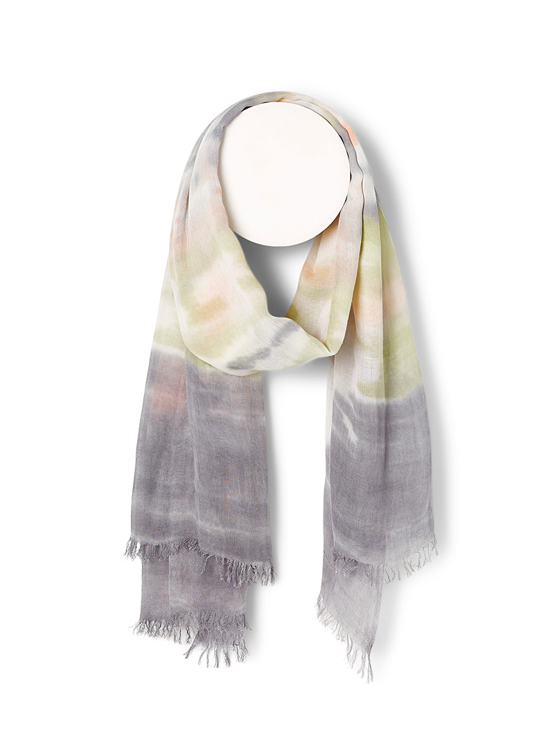 Simons Patterned Black Tie-dye softness scarf for women