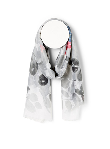Watercolour silhouette scarf