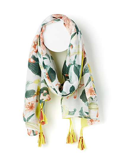 Colourful lily scarf