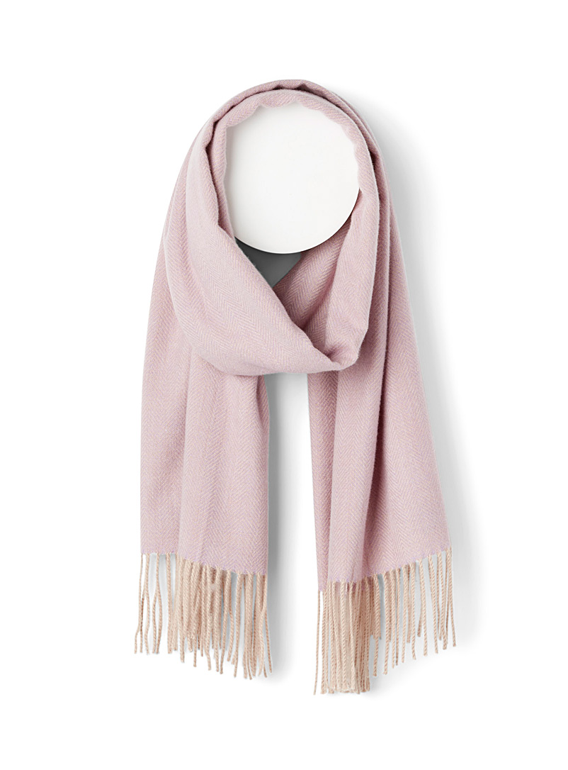 Simons Dusty pink  Refined chevron scarf for women