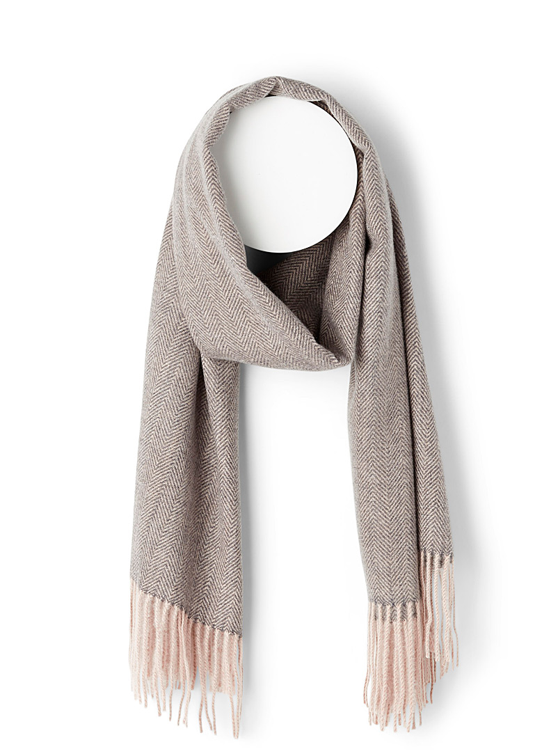 Simons Assorted grey  Refined chevron scarf for women