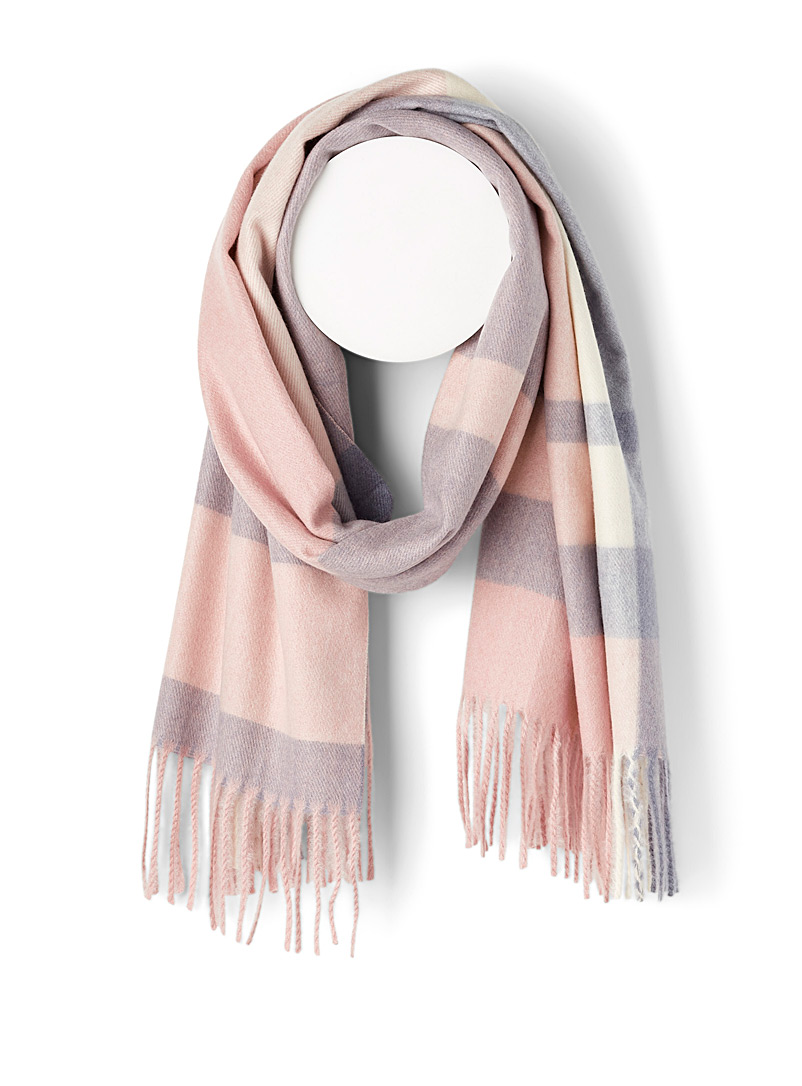 Simons Assorted pink  Pastel check scarf for women