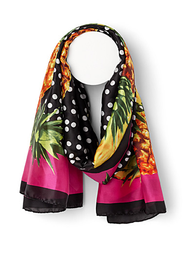 Dots and pineapple scarf