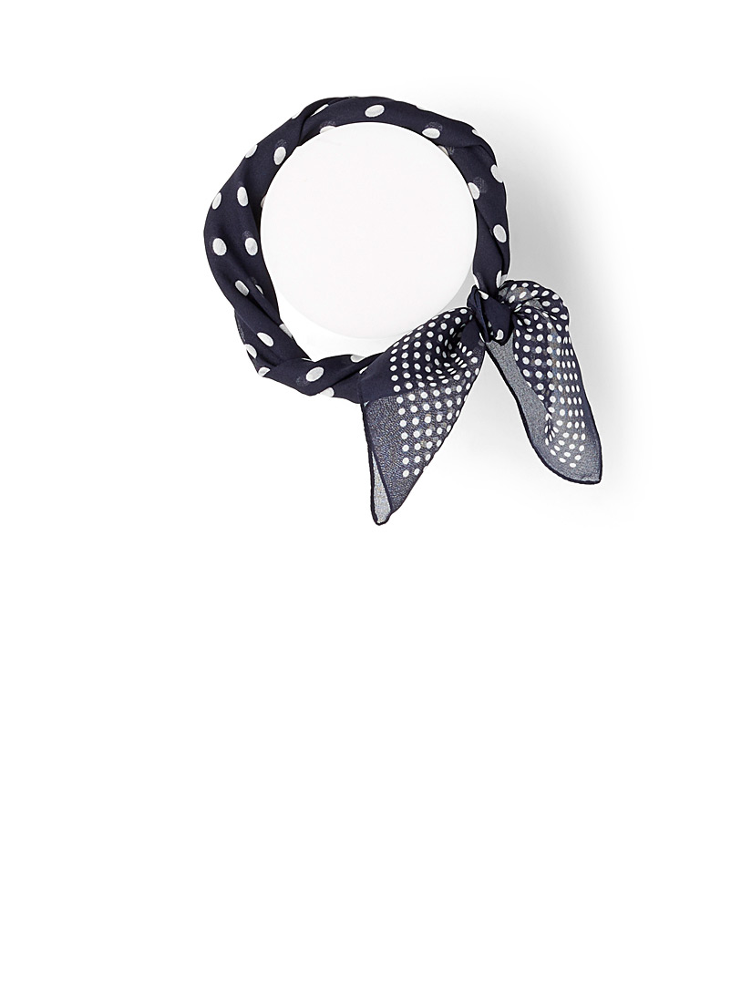 Big and small dot scarf - Light scarves - Patterned Blue