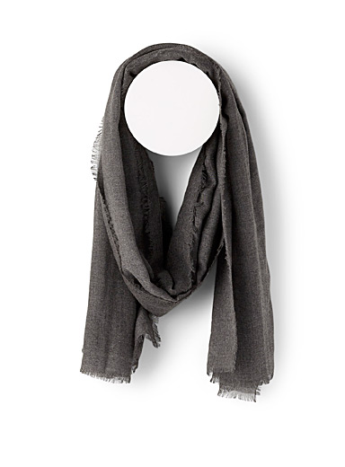 Le 31 Oxford Lightweight heather scarf for men