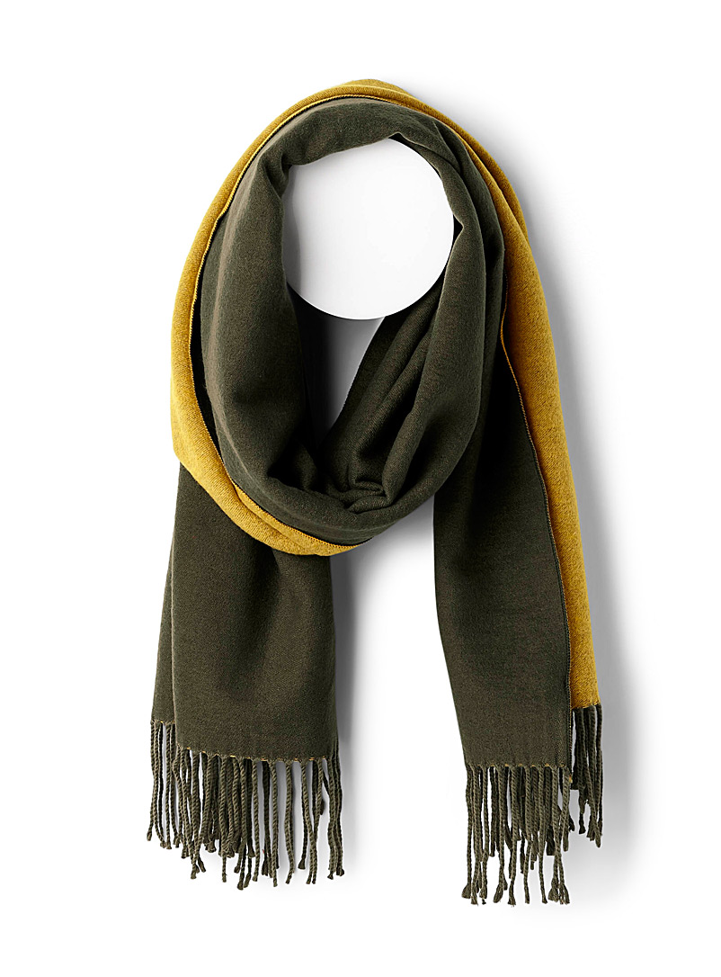 Front and back scarf - Winter Scarves - Mossy Green