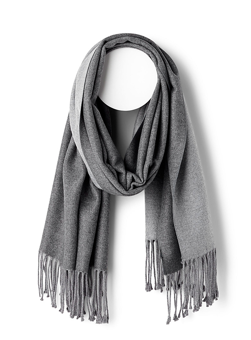 Front and back scarf - Winter Scarves - Silver