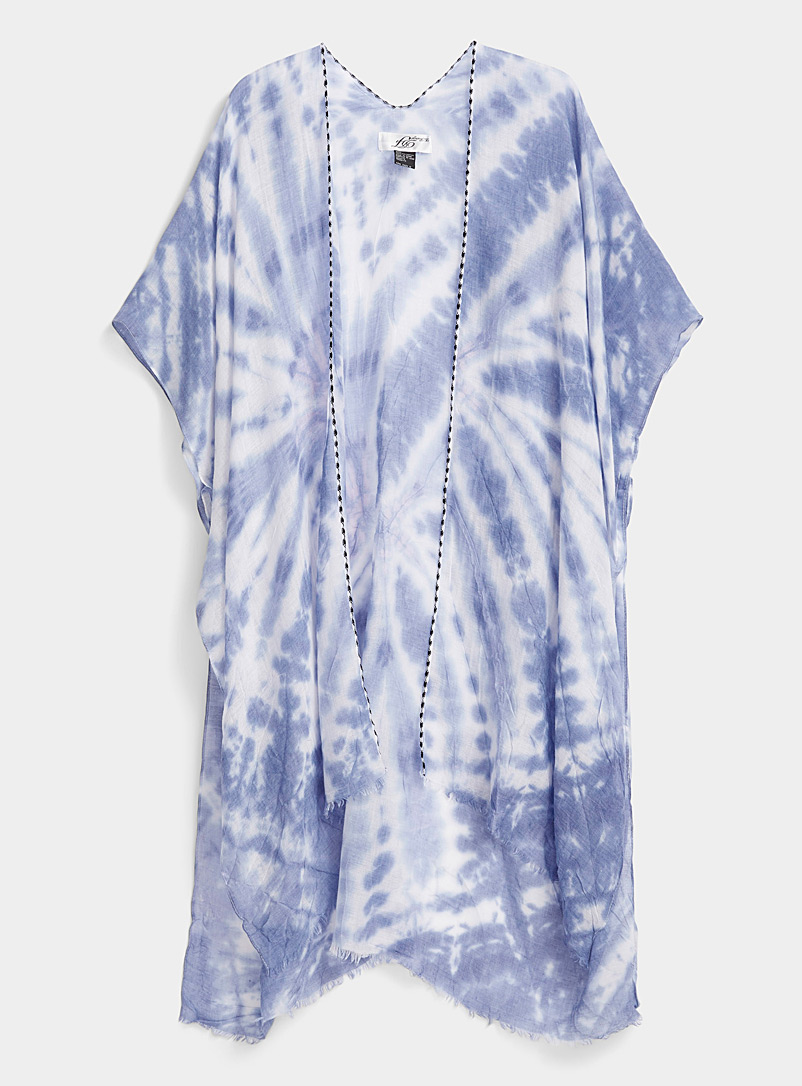 Simons Assorted blue Tie-dye shawl for women