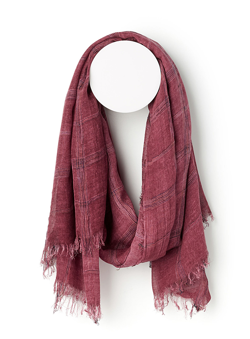 Multicolour accent scarf - Light scarves - Cherry Red