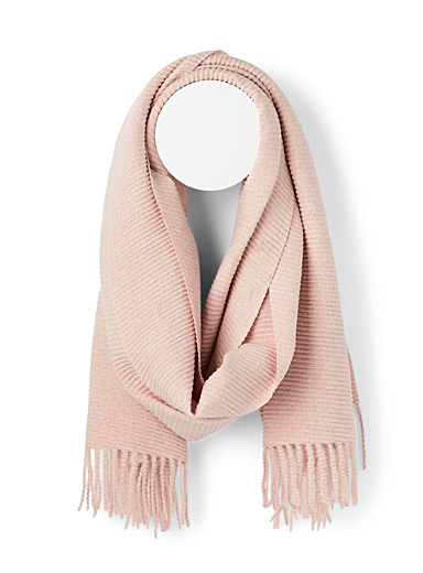 Simons Pink Soft pleated scarf for women