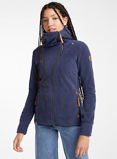 Le sweat polaire zip asymétrique