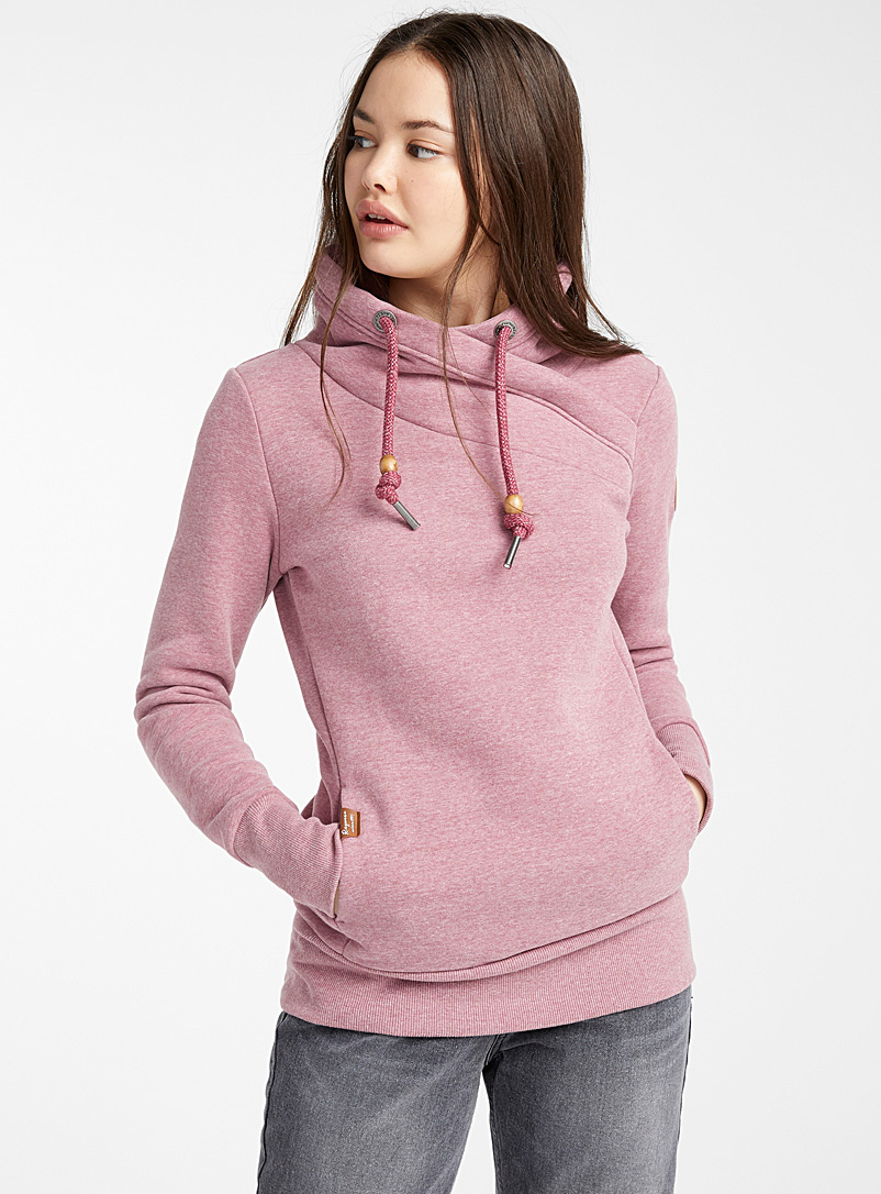Floral high-neck sweatshirt - Sweatshirts & Hoodies - Pink