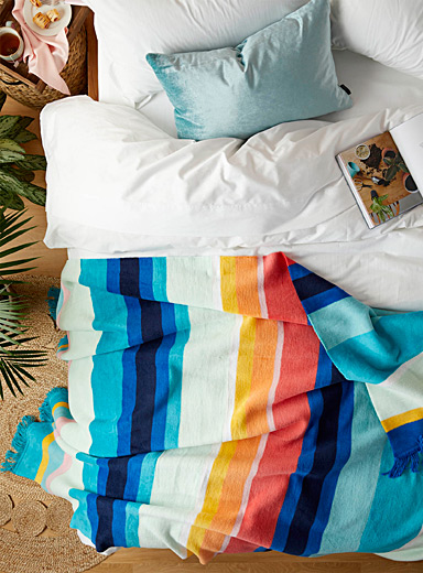 Pad Assorted Vacation stripe throw  150 x 200 cm
