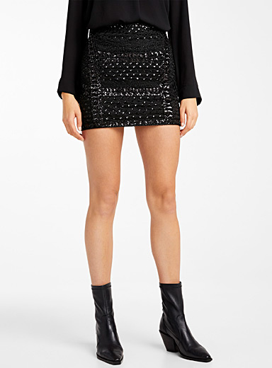 Mermaid sequin miniskirt