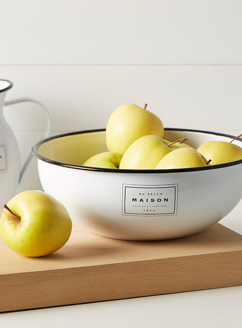 Ma belle maison large bowl - Fruit Bowls & Baskets - Black and White