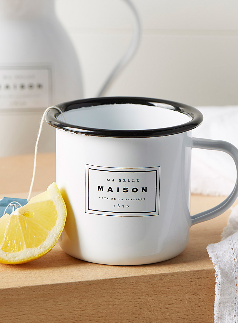 Ma belle maison mug - Dinnerware - Black and White