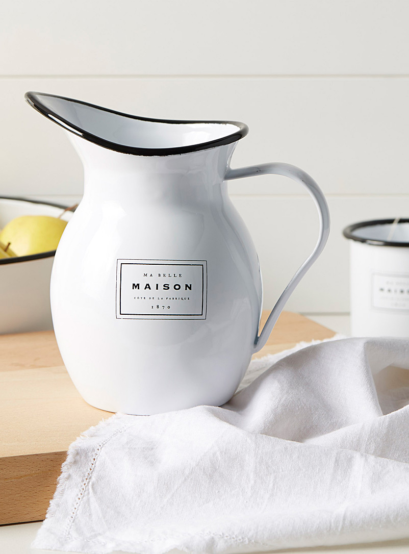 Ma belle maison pitcher - Dinnerware & Utensils - Black and White