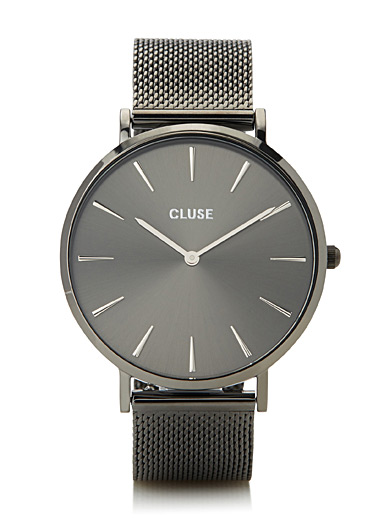 La Bohème charcoal watch