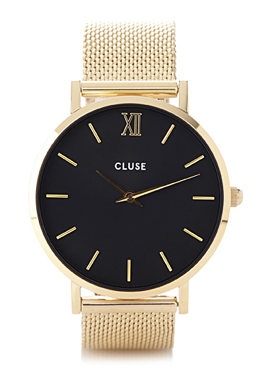 Minuit gold watch