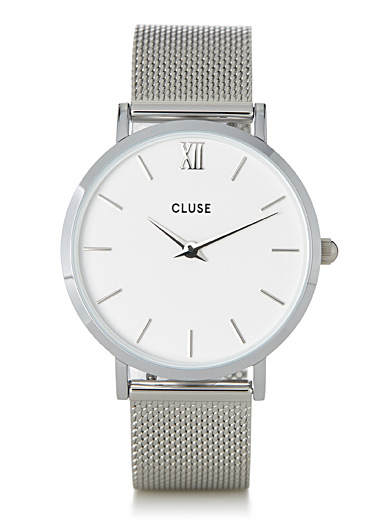 Minuit metallic watch
