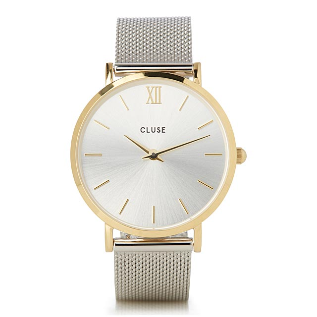 silver-and-gold-mesh-minuit-watch