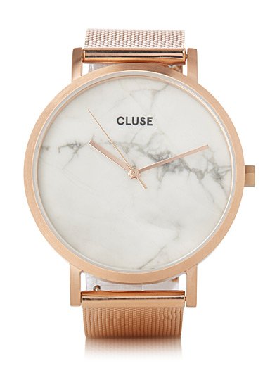 La Roche rose gold mesh watch