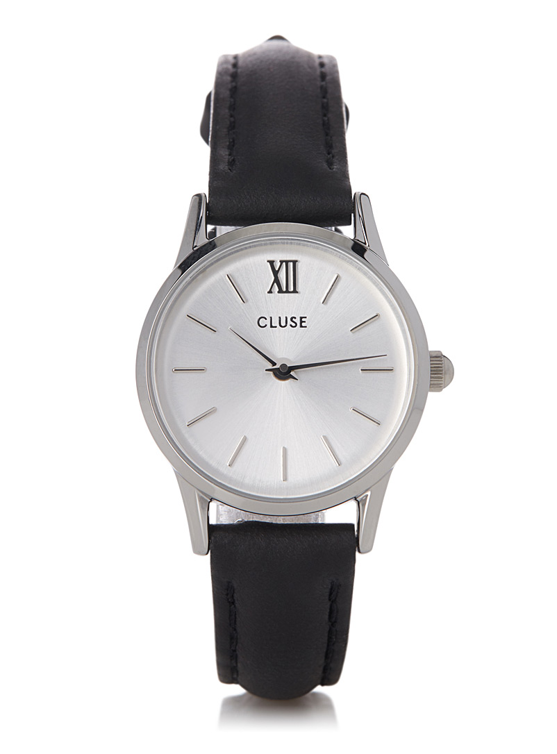 La Vedette leather watch - Watches - Black
