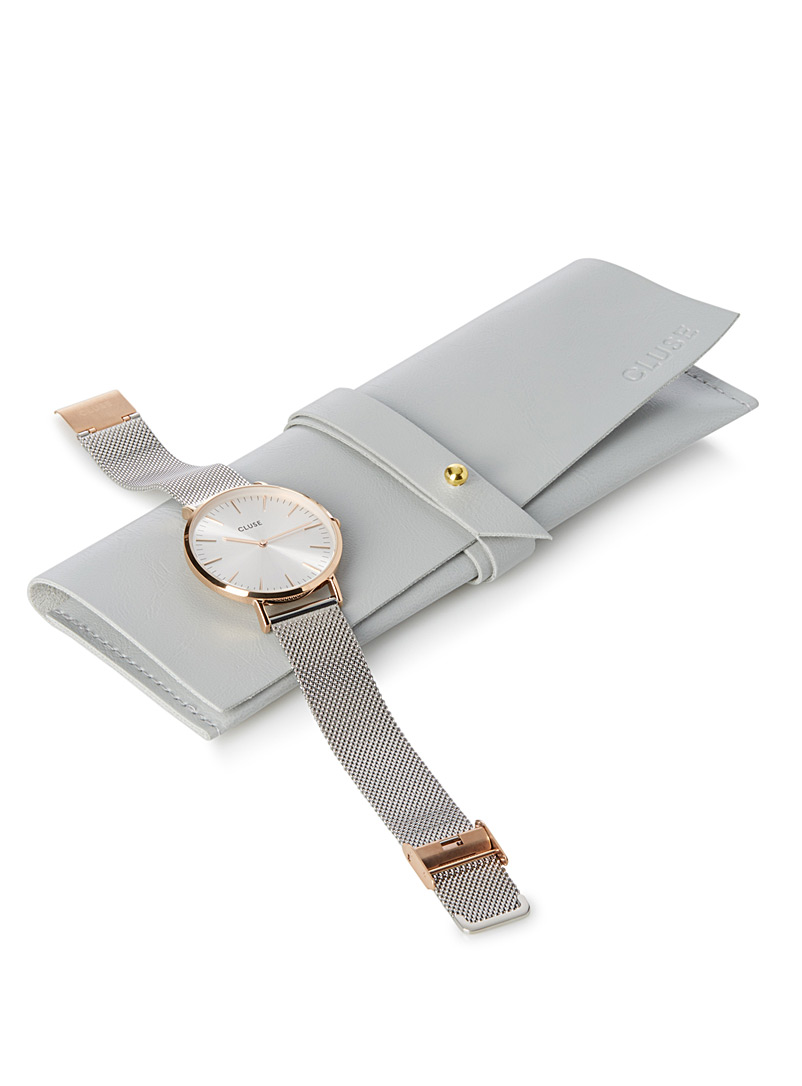 Cluse Silver La Bohème rose gold and silver watch for women