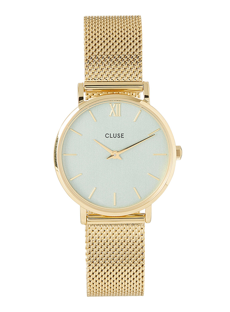 Cluse Gold  Minuit mesh band watch for women
