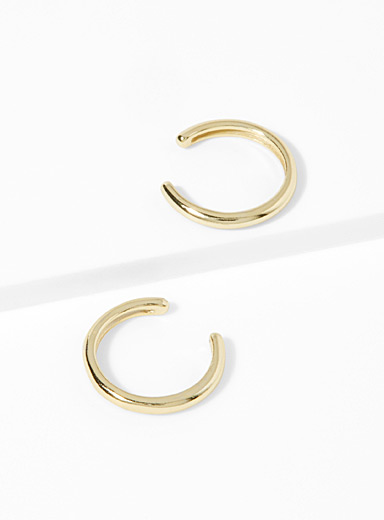 Metallic ear cuffs