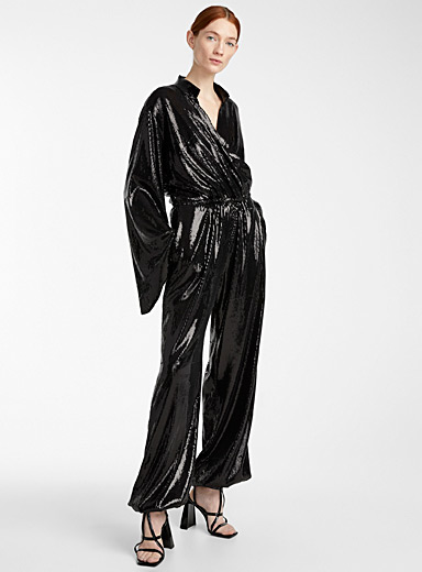 Greta Constantine Black Coco jumpsuit for women