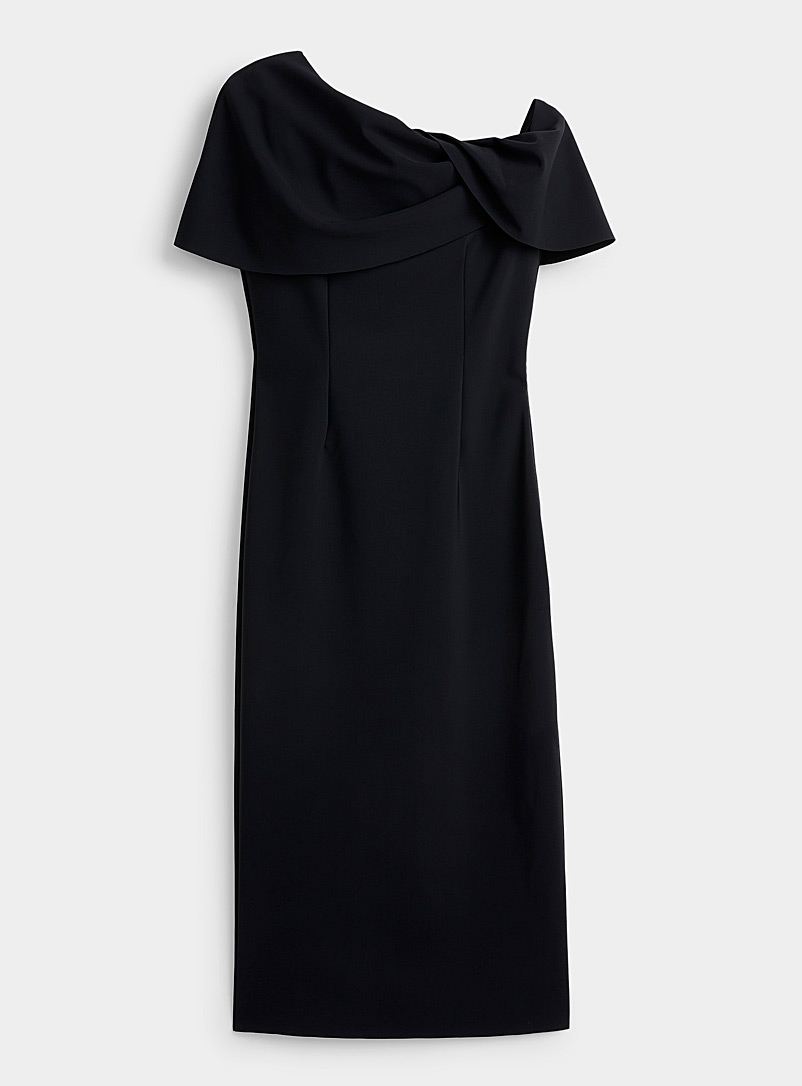 Greta Constantine Black Calpurnia midi dress for women