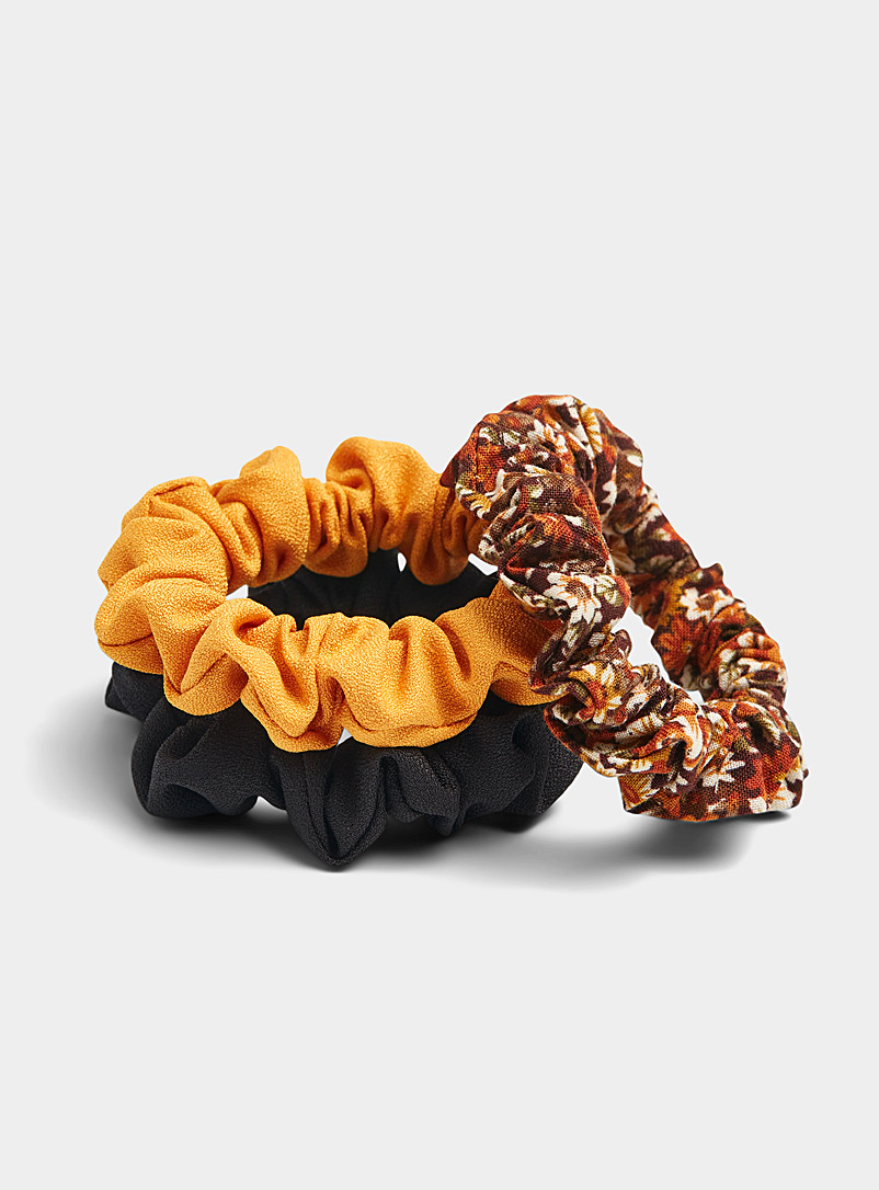 Small fall scrunchies  Set of 3