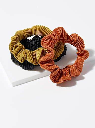 Pleated scrunchies  Set of 3