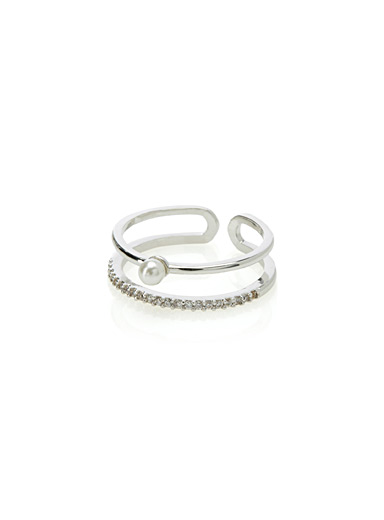 Pearly double ring