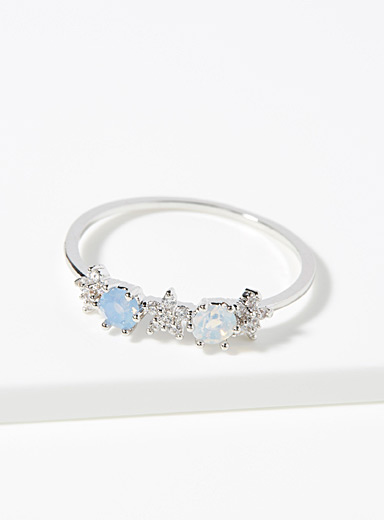 Starry stone ring